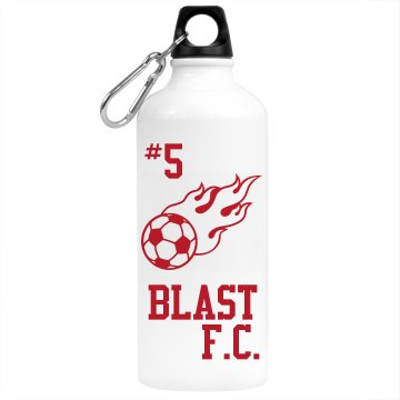 Blast F.C. Water Bottle Aluminum Water Bottle