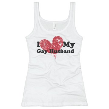I love My Gay Husband Junior Fit Bella Slit V-Neck Tee