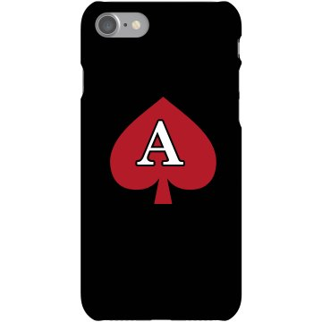 Custom A Monogrammed Case Plastic iPhone 5 Case Black