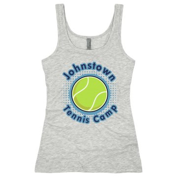 Johnstown Tennis Camp Junior Fit Soffe 2x1 Rib Tank Top