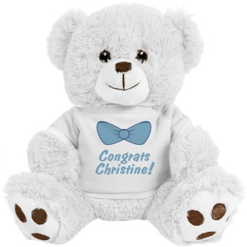 It's Maternity Showtime! Plush Baby Shower Teddy Bear