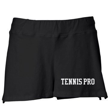 Tennis Pro w&#x2F;Back Junior Fit Bella Fitness Shorts