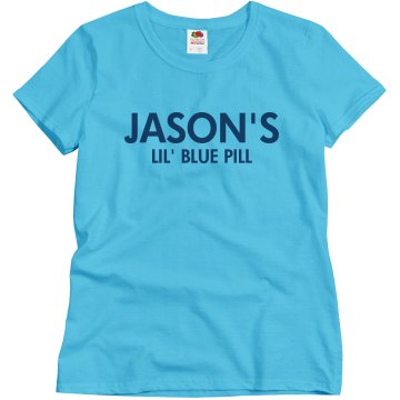Jason's Lil Blue Pill Misses Relaxed Fit Basic Gildan Ultra Cotton Tee