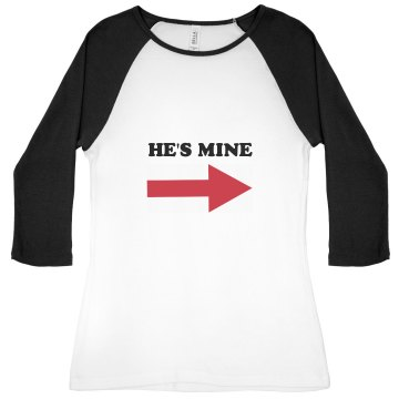 He's Mine Junior Fit Bella 1x1 Rib 3/4 Sleeve Raglan Tee