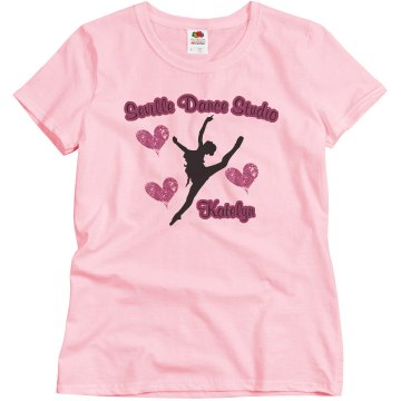 Seville Dance Studio Misses Relaxed Fit Basic Gildan Ultra Cotton Tee