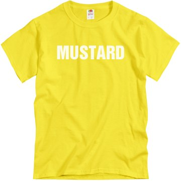 Mustard Couples Shirt Unisex Gildan Heavy Cotton Crew Neck Tee