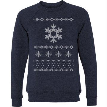 Snowflake Ugly Sweater Unisex Canvas Triblend Crew