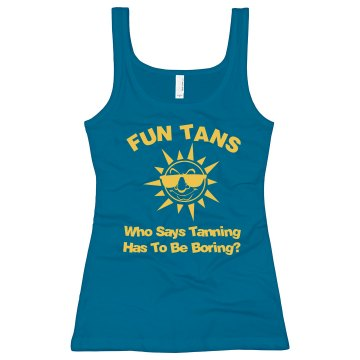 Tanning Salon Tank Junior Fit Bella Sheer Longer Length Rib Tank Top
