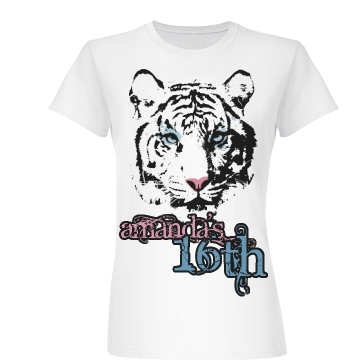 16th Tiger Birthday Junior Fit Basic Bella Favorite Tee