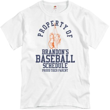 Property of Baseball Unisex Basic Gildan Heavy Cotton Crew Neck Tee