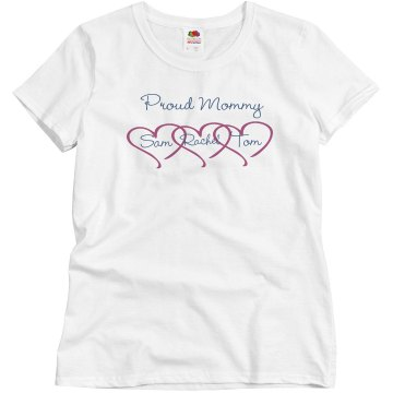 Proud Mom Sam Junior Fit Bella Sheer Longer Length Rib Tee