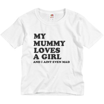 Mummy Loves Tee Youth Basic Gildan Heavy Cotton Crew Neck Tee