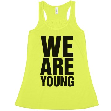 We Are Young Neon Misses American Apparel Neon Oversized Crop Tank