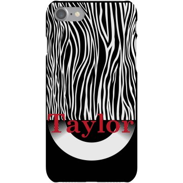 Zebra iPhone Case Rubber iPhone 4 & 4S Case White