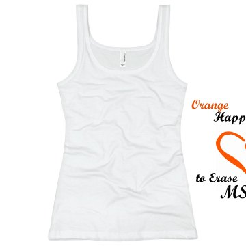 Happy To Erase MS Junior Fit Basic Bella 2x1 Rib Tank Top