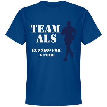 Running For A Cure ALS Unisex Gildan Heavy Cotton Crew Neck Tee