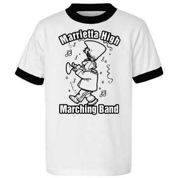 Marching Band Fan Youth Anvil Ringer Tee