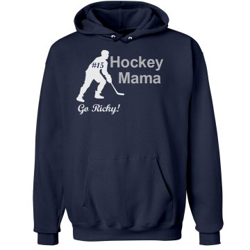 Hockey Mom Rhinestone Unisex Hanes Ultimate Cotton Heavyweight Hoodie