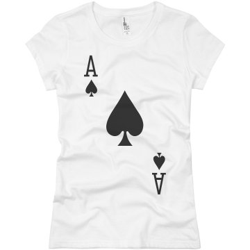 Ace Of Spades Costume Junior Fit Basic Bella Favorite Tee
