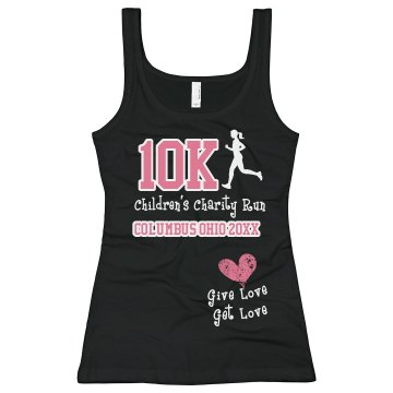 10K Charity Run Tee Junior Fit Bella Sheer Longer Length Rib Tee