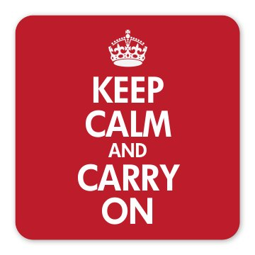 Classic Keep Calm Magnet Square Magnet