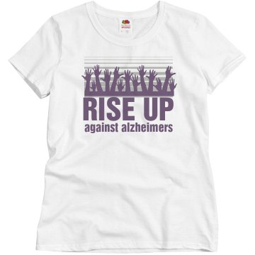 Rise Up Alzheimers Misses Relaxed Fit Basic Gildan Ultra Cotton Tee