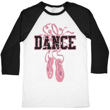 Dance Junior Fit Bella 1x1 Rib Cap Sleeve Raglan Tee