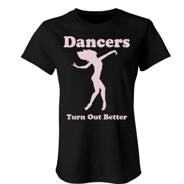 Dancers Turn Out Better T Junior Fit Bella Crewneck Jersey Tee