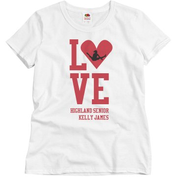 I Live For Gymnastics T Misses Relaxed Fit Basic Gildan Ultra Cotton Tee