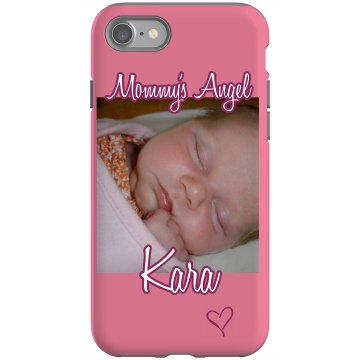 Mommy's Angel Rubber iPhone 4 & 4S Case Black