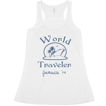 World Traveler Vacation Misses Relaxed Fit Basic Anvil Heavyweight Tank Top