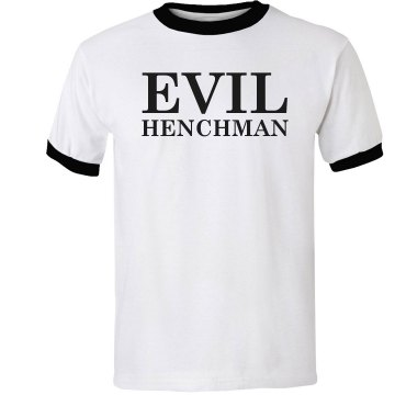 Evil Henchman Costume Unisex Anvil Ringer Tee