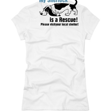 Visit an Animal Shelter Junior Fit Basic Bella Favorite Tee
