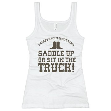 Saddle Up Or... Junior Fit Basic Bella 2x1 Rib Tank Top