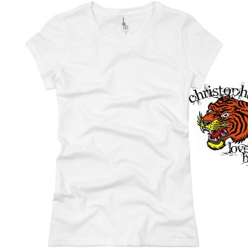 Tiger Tattoo T-Shirt Junior Fit Basic Bella Favorite Tee