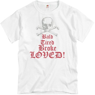 Dad Is Bald and Broke Unisex Basic Gildan Heavy Cotton Crew Neck Tee