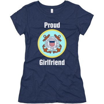 Proud Coast Guard GF Junior Fit Bella Triblend Tee
