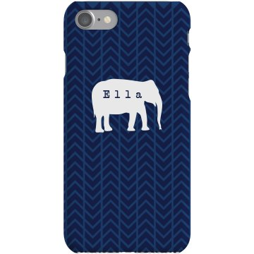 Ella Custom Elephant Case Plastic iPhone 5 Case White