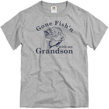 Grandson Fishing  Unisex Basic Gildan Heavy Cotton Crew Neck Tee