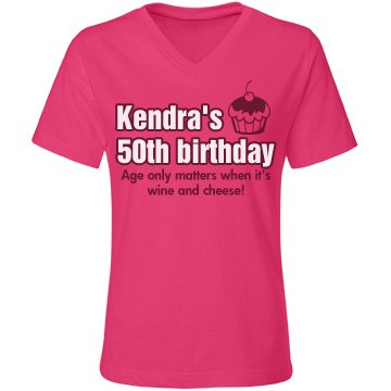 Kendra's 50th Birthday Misses Relaxed Fit Gildan Ultra Cotton Tee
