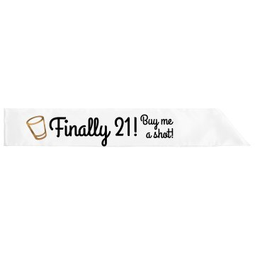21st Birthday Sash Adult Satin Party Sash