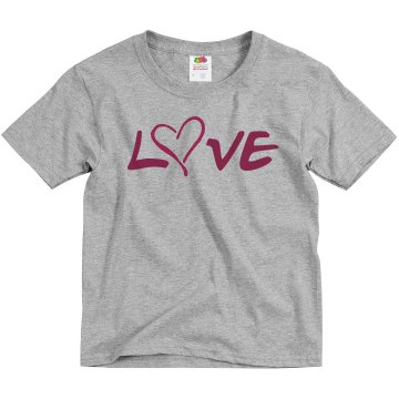 Love Mom & Dad Youth Bella Girl 1x1 Rib Cap Sleeve Tee