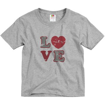 Youth Love Tee Youth Basic Gildan Heavy Cotton Crew Neck Tee