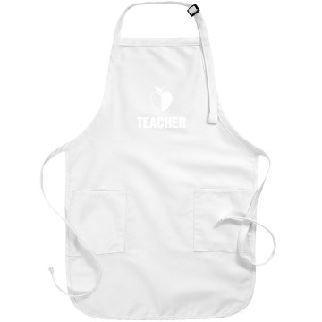 Teacher Apron With Apple Port Authority Adjustable Full Length Apron