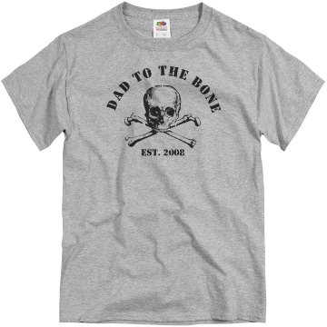 Dad to the Bone Distress Unisex Basic Gildan Heavy Cotton Crew Neck Tee