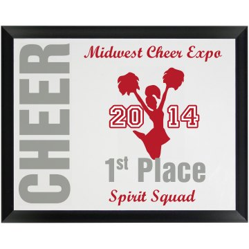Cheer Plaque Wood Plaque