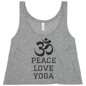 Peace, Love & Yoga Tank Misses Relaxed Fit Port Authority Ribbed Tank