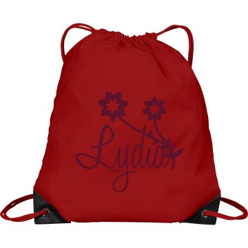 Little Girl Bag Port & Company Drawstring Cinch Bag