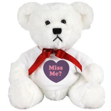 Miss Me w&#x2F; Back Medium Plush Teddy Bear