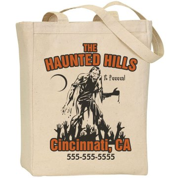 Halloween Haunted House Liberty Bags Canvas Tote
